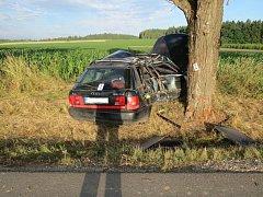Tragická nehoda u Kostelního Vydří. Řidič po nárazu auta do stromu zemřel.