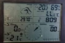 Minus 21 °C - teplota naměřená ráno 11. ledna 2017 v Dačicích.