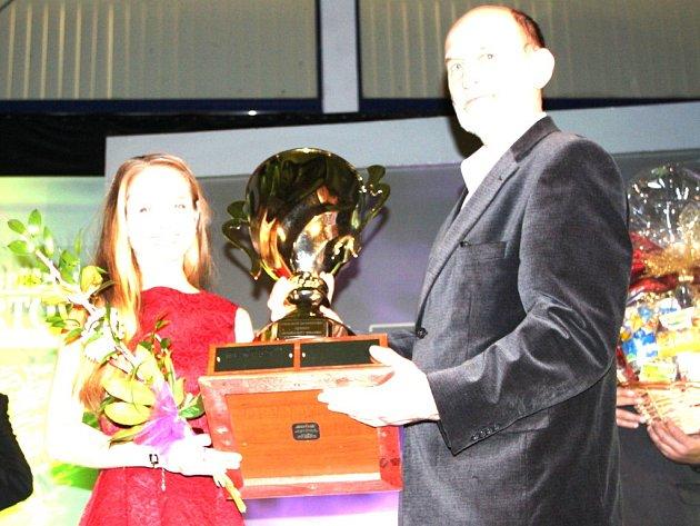 Vyhlášení výsledků ankety Nejúspěšnější sportovec roku 2016 okresu Jindřichův Hradec. Vítězkou v kategorii dospělých se stala biatlonistka Pavla Schorná ze Starého Města pod Landštejnem.