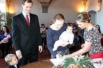 V Jindřichově Hradci se poprvé v novém roce konalo vítání občánků.