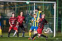 Fotbalisté Kardašovy Řečice porazili v 16. kole I. B třídy Mladé 2:1 a připsali si první vítězství v jarní části.