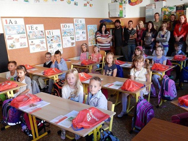 První školní den v Chlumu u Třeboně.