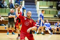 Marek Volf je defenzivním pilířem třeboňských házenkářů.