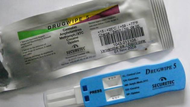 DROGY. Tester na drogy drugwipe.