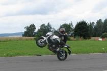 Sobota na jindřichohradeckém letišti byla věnovaná motorkářům a jejich bezpečnosti na cestách.