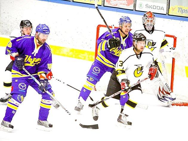 Hokejisté Vajgaru doma podlehli Moravským Budějovicím 3:4.