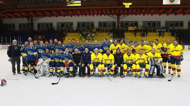 Jindřichohradecký zimní stadion hostil benefiční utkání, v němž se střetl domácí Vajgar s budějovickým Motorem.