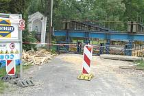 Rekonstrukce mostu v Horní Lhotě.