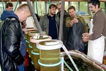Zkoušky se odehrávaly i v rybí líhni Rybářství Třeboň v Mokřinách.