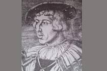 FERDINAND I. Habsburský na portrétu z roku 1531 v dobovém mužském baretu.