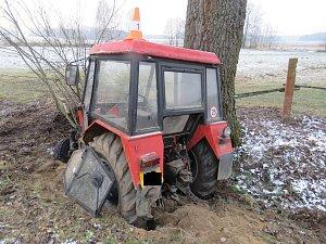 Krádež traktoru na Jindřichohradecku