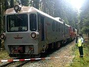 Srážka osobních vlaků Jindřichohradeckých místních drah u Chválkova.