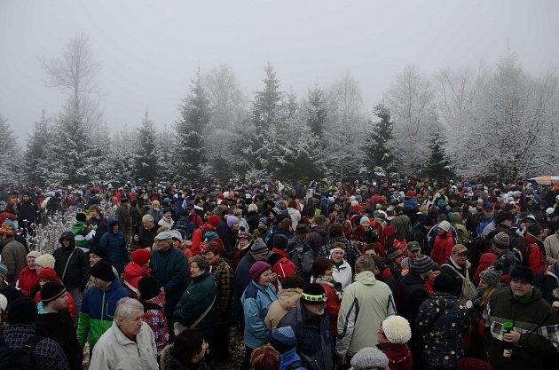 Silvestrovský výstup na Javořici 2013.