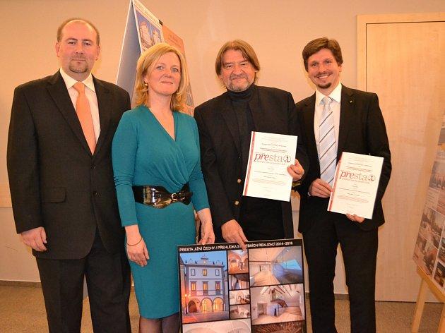 Dům Štěpánka Netolického vTřeboni získal čestné uznání Presta za citlivé provedení rekonstrukce objektu a kvalitní řemeslné a restaurátorské práce.