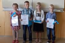 Žáci prvního ročníku ze základní školy v Lužnici.