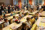 První školní den na 2. základní škole v Jindřichově Hradci.