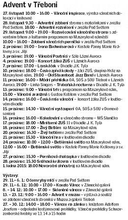 Adventní program Třeboň.