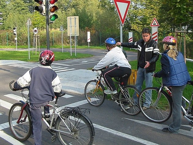 Dopravní hřiště v Třeboni.
