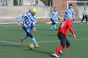 Na hradeké Piketě se hrálo 3. kolo fotbalového Českého poháru OFS mezi Pečí a Popelínem.