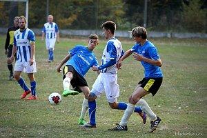 Fotbalisté Plavska remizovali v souboji nováčků s béčkem Nové Včelnice 3:3.