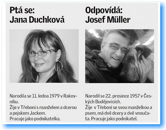 Jana Duchková se ptala Josefa Müllera.