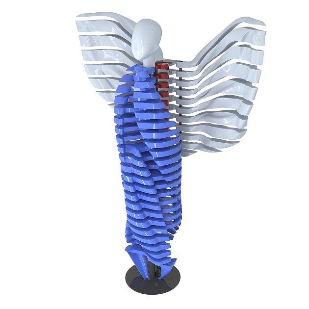 Unikátní pohyblivá socha, složená zdílů vytištěných na 3D tiskárnách, vzniká pod rukama týmu PETMAT podle návrhu autora Dominika Císaře.