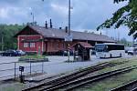 Jindřichohradecké vlakové nádraží.