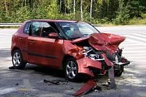 Na křižovatce u Kuniferu v Jindřichově Hradci se stala tragická nehoda.