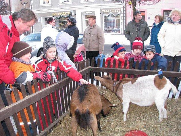Vánoční trhy v Nové Bystřici.