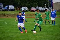 Fotbalisté Lomnice získali první body v sezoně, když naopak připravili první porážku Nové Bystřici na jejím trávníku.