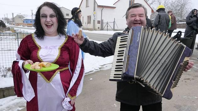 Masopustní veselí ovládlo Třebětice.