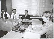 Fakulta managementu v J. Hradci. POHLED do učebny němčiny, kde přednášela Jaroslava Gibalová.