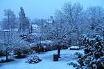 Sněžení se 28. dubna nevyhnulo ani Jindřichovu Hradci.