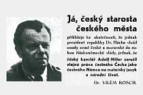 Jindřichohradecký starosta Vilém Rösch a část jeho prohlášení.