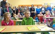 První školní den v málotřídce v Popelíně.