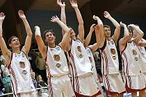 Postupová radost basketbalistů Lions.