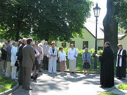 Připomenutí památky Mistra Jana Husa v Jindřichově Hradci.