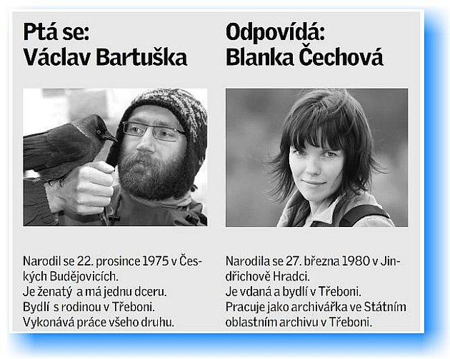 Přírodovědec Václav Bartuška se ptal archivářky Blanky Čechové.