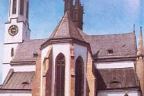 KLÁŠTER Vyšší Brod, jak je vyobrazen v knize Poslední Rožmberkové.