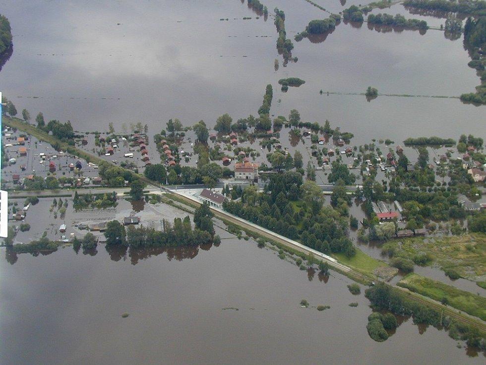 Velká voda na Třeboňsku.