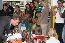Zahájení školního roku v základní škole Na Sadech v Třeboni.