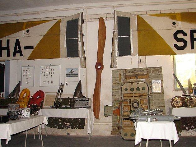 Letecké muzeum v Dačicích.