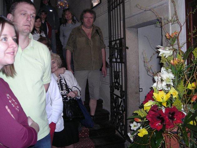 Výstava amarylis na třeboňském zámku.