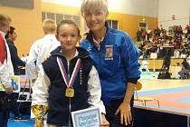 Vítek Masař s reprezentační trenérkou Ivou Keslovou.
