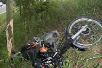 Řidiči na Jindřichohradecku mají za sebou černý víkend. Nehoda motocyklu u Dačic ve směru na Telč si vyžádala život motorkáře.