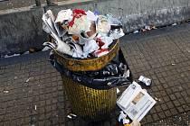 Ilustrační foto odpadkový koš.