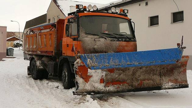 Nadílka sněhu v Deštné.