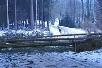 Silnice z Kamenného Malíkova na Bednárec.