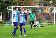 Fotbalisté Buku jsou příjemným překvapením okresního přeboru. Nováček v 5. kole doma deklasoval 5:0 společný tým Číměře a Nové Bystřice B a vyšvihl se na třetí místo.