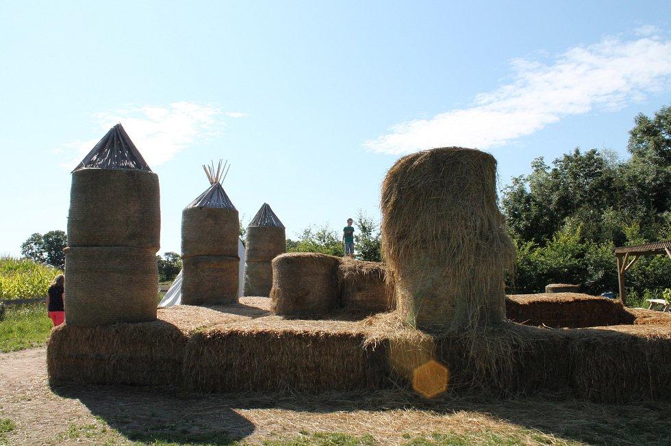 Areál kukuřičného bludiště v Roseči nedaleko Jindřichova Hradce.